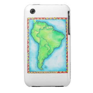 Map of South America 2 iPhone 3 Case-Mate Cases