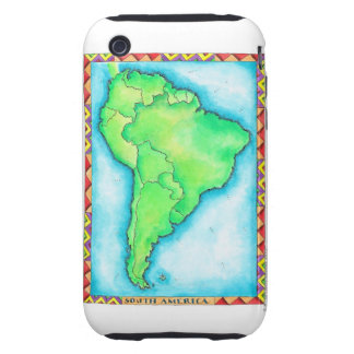 Map of South America 2 iPhone 3 Tough Cover