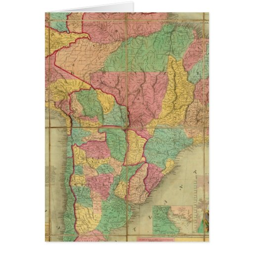Map of South America 2 Greeting Card