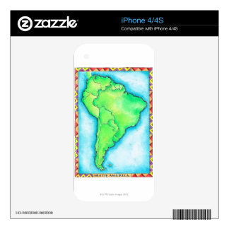 Map of South America 2 iPhone 4 Skins