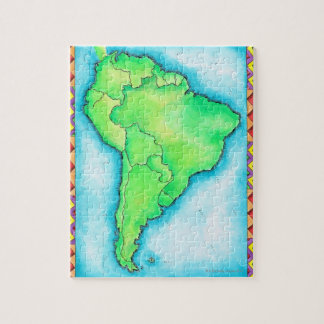 Map of South America 2 Jigsaw Puzzle