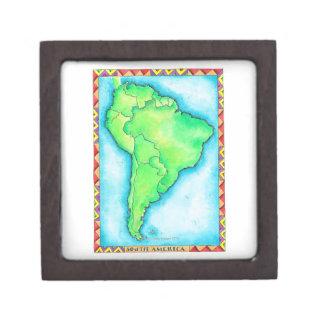 Map of South America 2 Keepsake Box