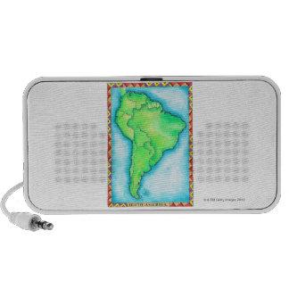 Map of South America 2 Mini Speaker