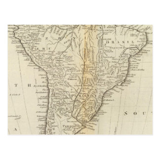 Map of South America 2 Postcard