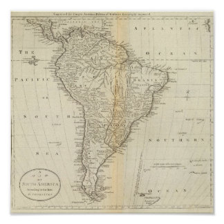 Map of South America 2 Poster