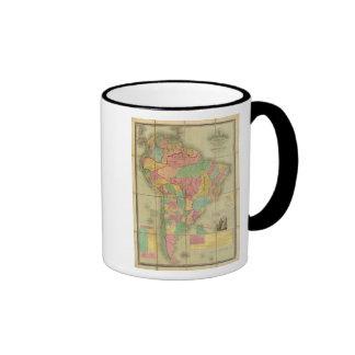 Map of South America 2 Ringer Coffee Mug