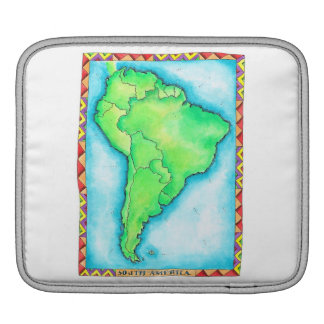 Map of South America 2 Sleeve For iPads