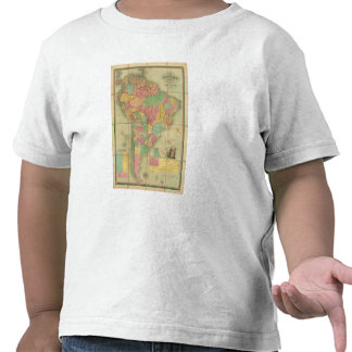 Map of South America 2 T-shirts