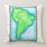 Map of South America 2 Throw Pillow