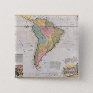 Map of South America 3 Button