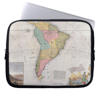 Map of South America 3 Computer Sleeve