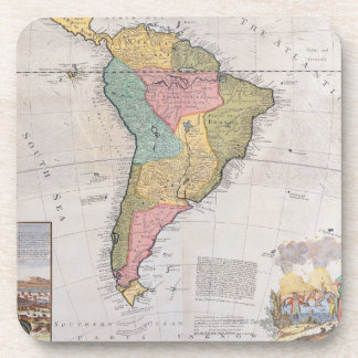 Map of South America 3 Drink Coaster