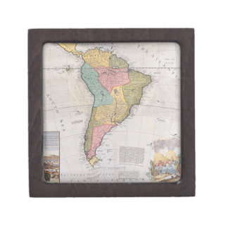 Map of South America 3 Jewelry Box