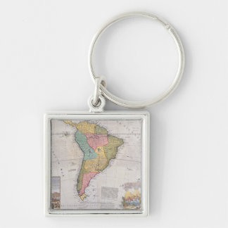 Map of South America 3 Key Chains