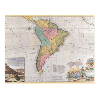 Map of South America 3 Postcard