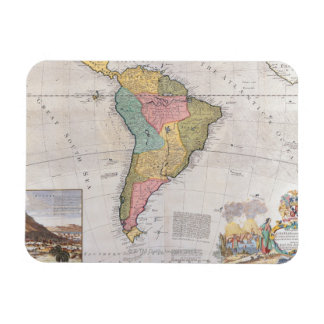Map of South America 3 Rectangular Magnets