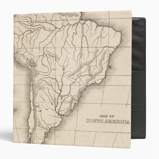 Map of South America 3 Ring Binder