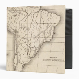 Map of South America 3 Ring Binders