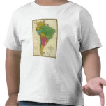 Map of South America 3 T-shirts