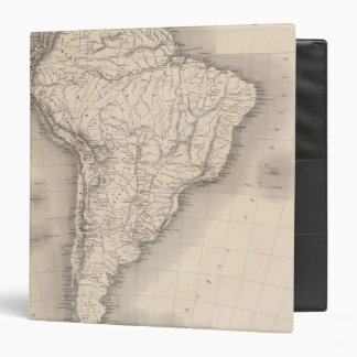Map of South America 4 3 Ring Binders