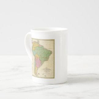 Map of South America 4 Bone China Mug