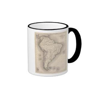 Map of South America 4 Coffee Mugs