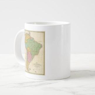 Map of South America 4 Jumbo Mugs