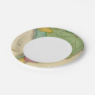 Map of South America 4 Paper Plate
