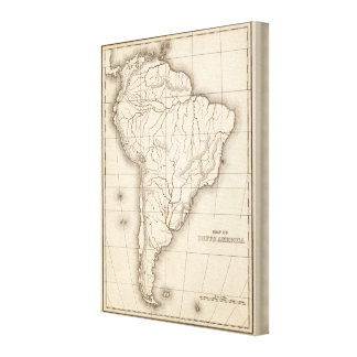 Map of South America 4 Stretched Canvas Prints