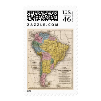 Map of South America 5 Postage Stamps