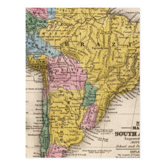 Map of South America 5 Postcard