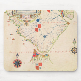 Map of South America and the Magellan Straits Mousepad