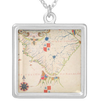 Map of South America and the Magellan Straits Necklaces