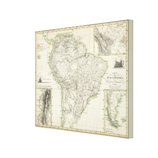 Map of South America Canvas Print