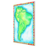 Map of South America Canvas Prints