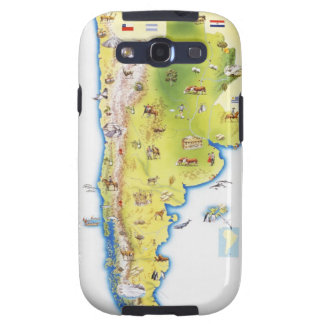 Map of South America Galaxy SIII Cover