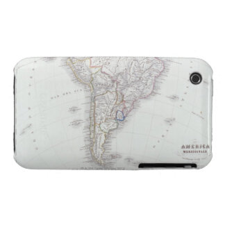 Map of South America iPhone 3 Case