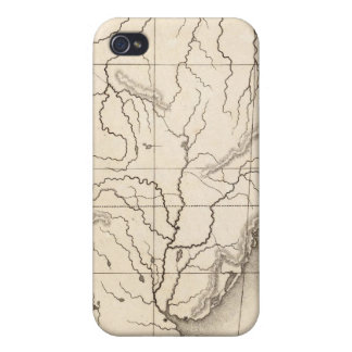 Map of South America Case For iPhone 4