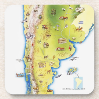 Map of South America Drink Coaster