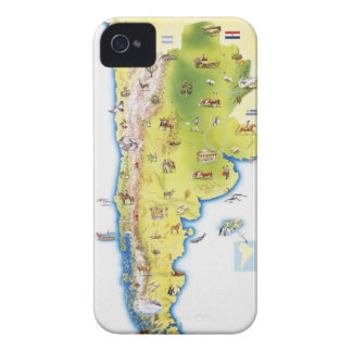 Map of South America iPhone 4 Case