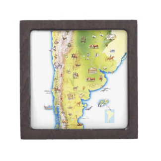 Map of South America Jewelry Box