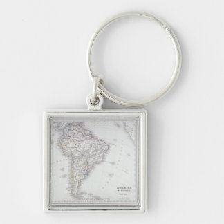 Map of South America Key Chains