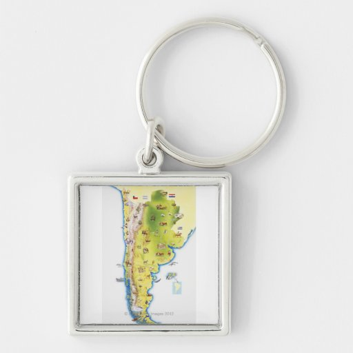 Map of South America Keychain
