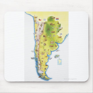 Map of South America Mousepad
