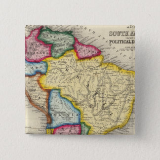 Map Of South America Pinback Button