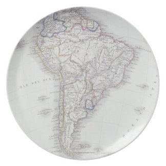 Map of South America Dinner Plate