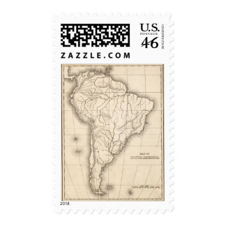 Map of South America Postage Stamp