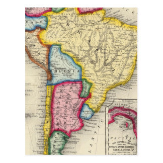 Map Of South America Postcard