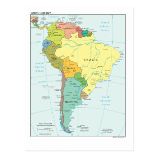 Map of South- America Postcard