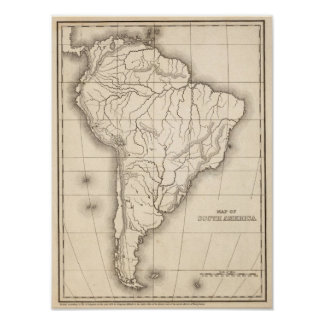 Map of South America Posters